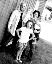 My Family: Me (Dustin), Maxwell, Lindy, Samantha and in front Brooklyn Ver Beek
