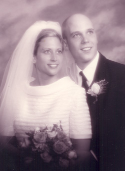 Dustin & Lindy Ver Beek on Wedding Day, Aug 22, 1998, Image Credit-Bill Timmer