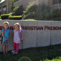 First Day of Three School for Max & Samantha, September 2012
